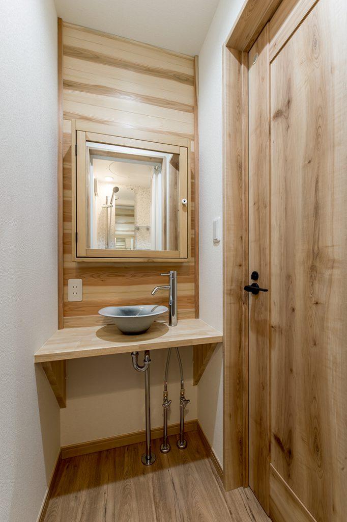 市川市東菅野 新築一戸建て シャワールームと洗面台